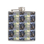 Black Spectacled Bear Flask