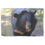 Black Spectacled Bear Hand Towel