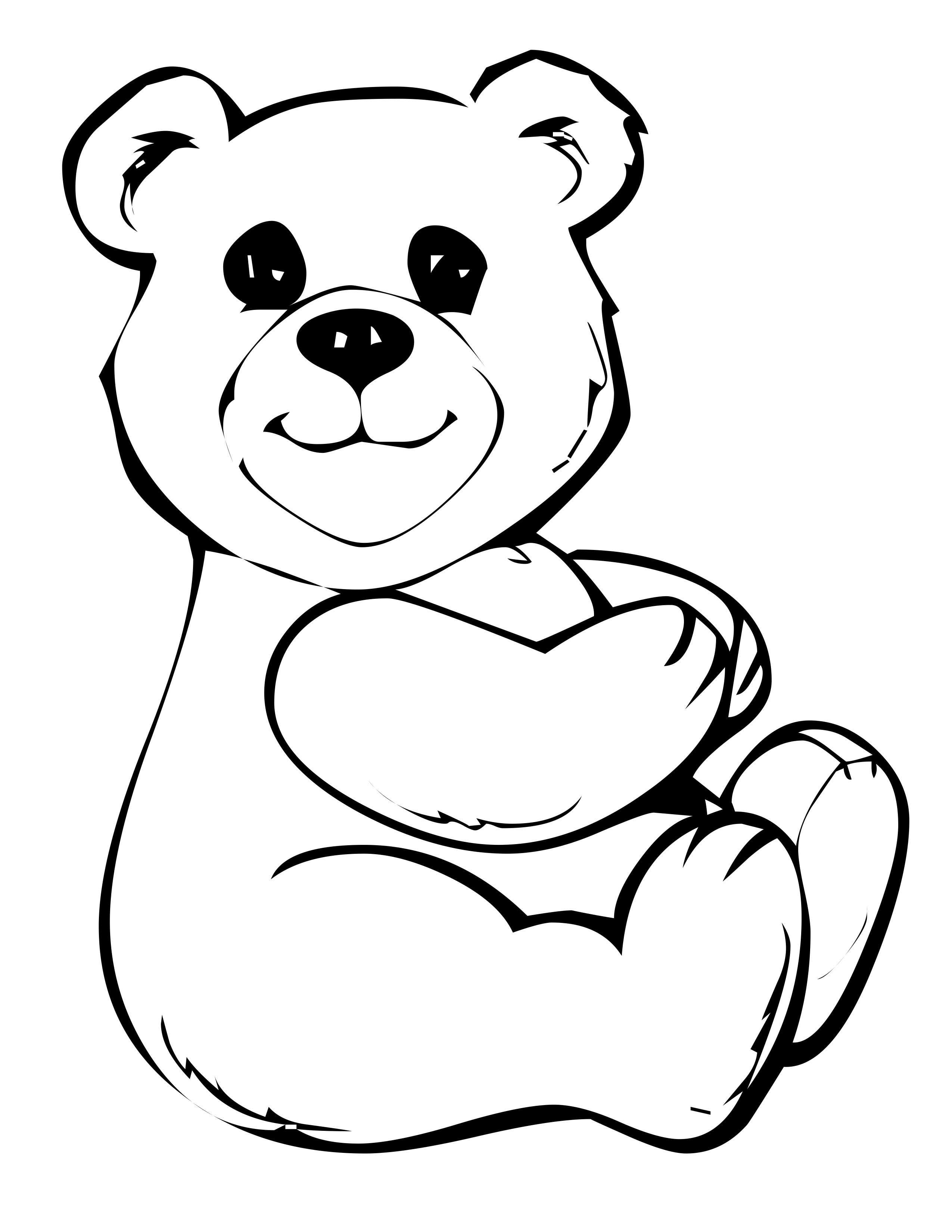 bear coloring pages to print - photo#20